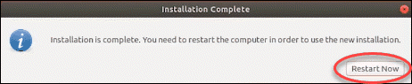 Restart system after the installation is completed.
