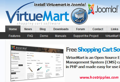 Virtuemart, How to Install Virtuemart in Joomla!, Hostripples Web Hosting