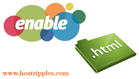 How enable HTML files to display php code, Hostripples Web Hosting