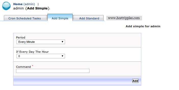 Kloxo, How to create cron jobs on your Kloxo Panel, Hostripples Web Hosting