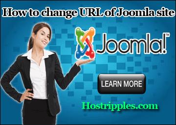 How to change URL of Joomla site, Hostripples Web Hosting