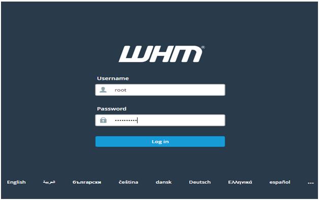 login whm, How to login to WHM?, Hostripples Web Hosting