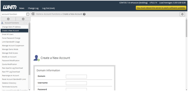 How to Create a New cPanel Account in WHM – Hostripples, Hostripples Web Hosting
