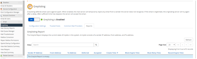 Minor Security Changes to Mail Server And Activating Grey Listing, Hostripples Web Hosting