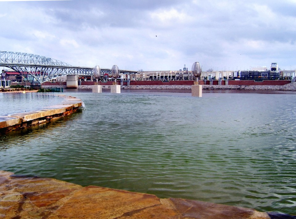 View of Shreveport across the red river Louisiana