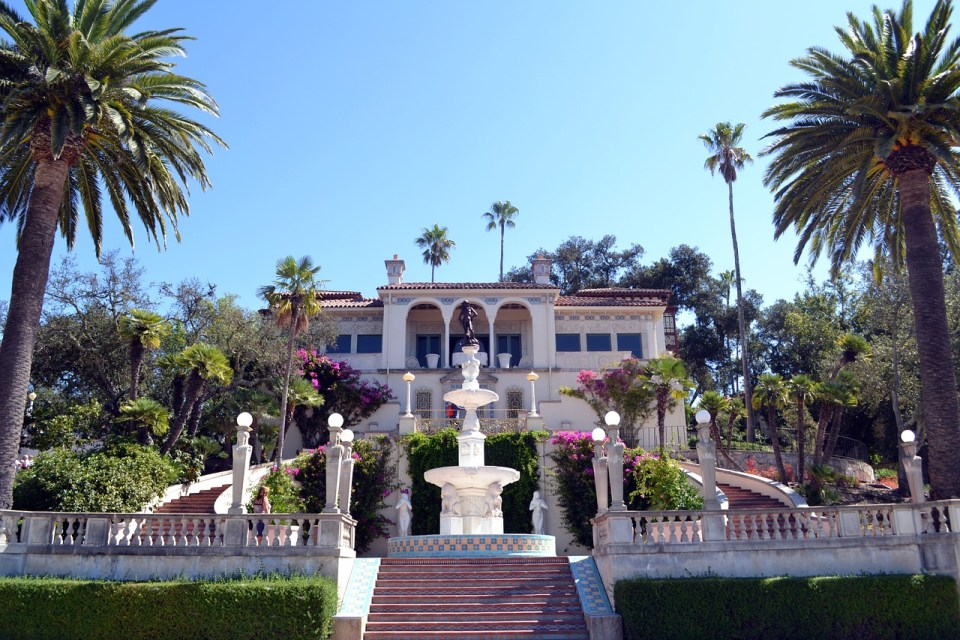 Outside of the Hearst Castle