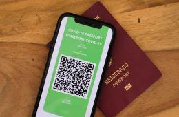 vaccine passport shown on iphone