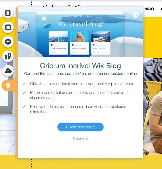 Passo 13 para criar site no wix