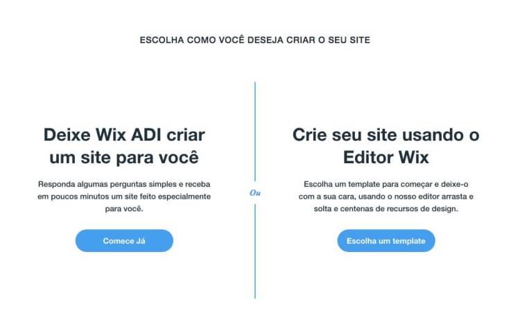 Passo 4 para criar site no wix