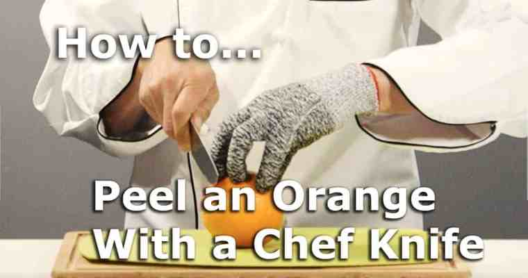 Peel an Orange without the White Pith!