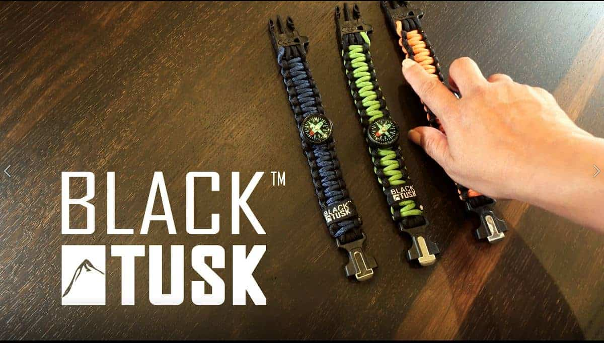 A Black Tusk Survival Bracelet Adds Safety to Every Adventure