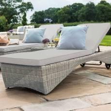 Maze Rattan Sorrento Garden Sun Lounger Set