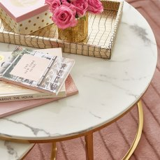 Savona Marble and Gold Nest Of Tables