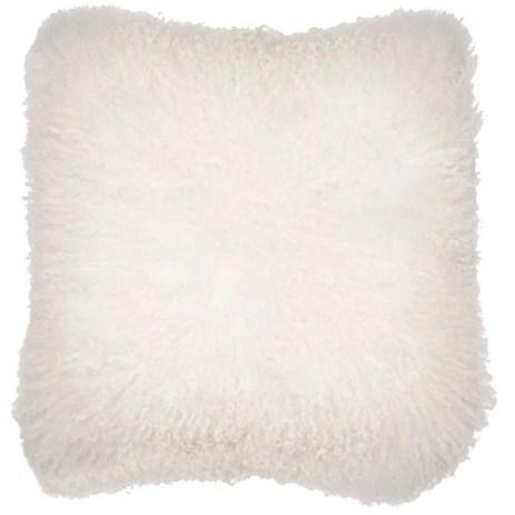 Malini Mongolian White Cushion