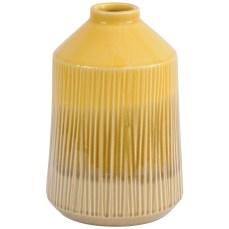 Yellow Stoneware Bottle Vase