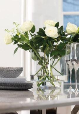 Clear Glass Hurricane Vase