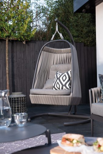 Venice Rattan Garden Swing Egg Chair