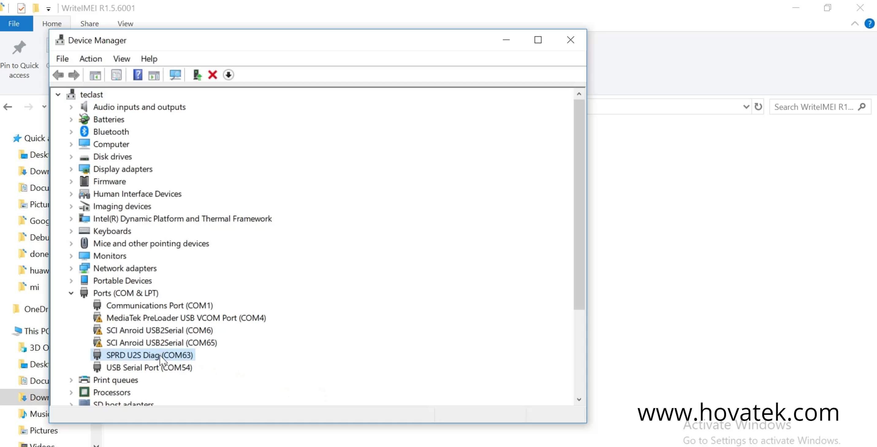 How to use WriteIMEI tool to write IMEI to Unisoc