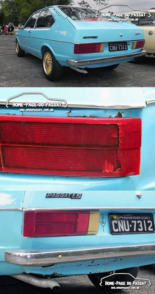 Ferrugem generalizada no painel traseiro, rodas BBS e detalhes que não caracterizam um carro como apto a receber o certificado de originalidade.