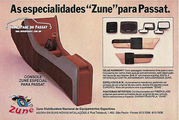 Console Zune e acessórios para Passat