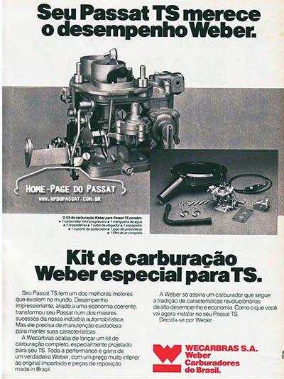 Kit de carburação Weber - Mini progressivo