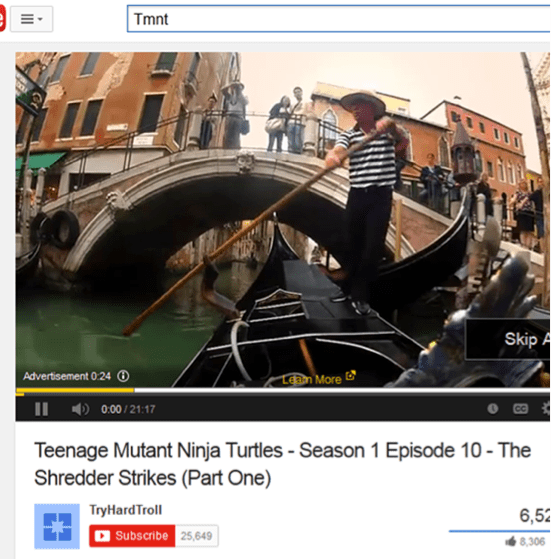image ad in youtube video