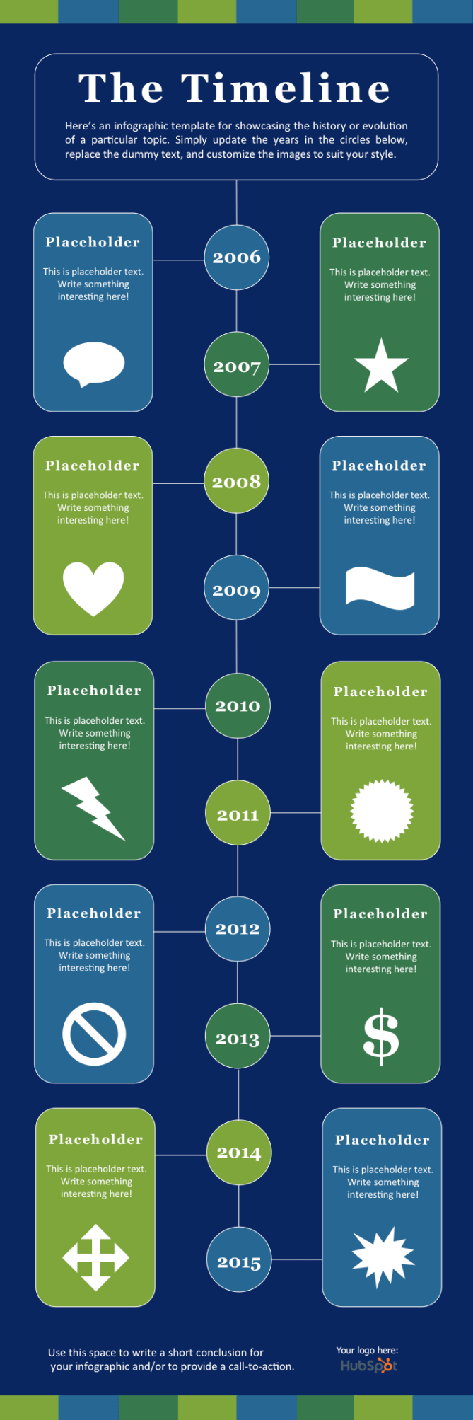 The Timeline infographic template for PowerPoint