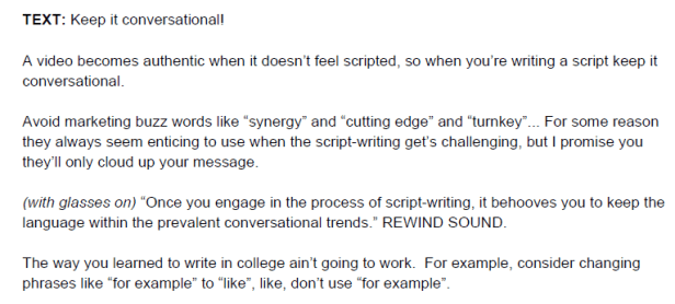 how_to_write_a_video_script_example_keep_conversational