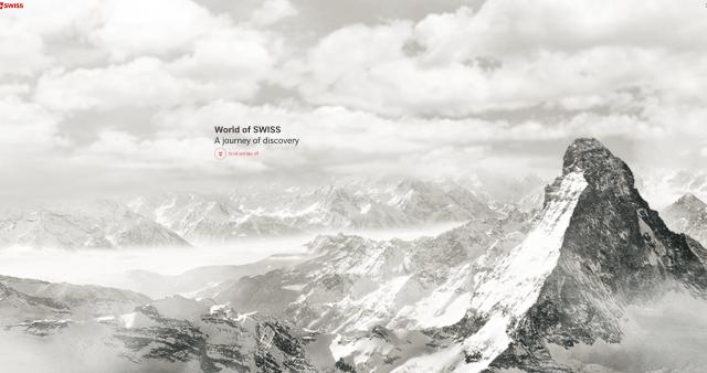 Homepage of World of SWISS, an award-winning website