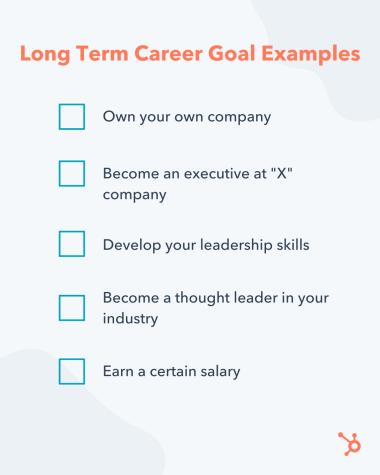 examples of long term career goals