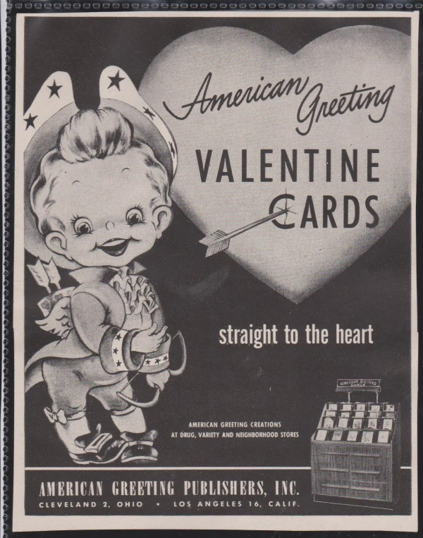 Valentine's Day card advertisement by American Greeting