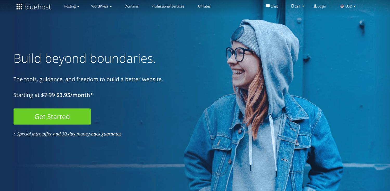 Bluehost for WordPress website