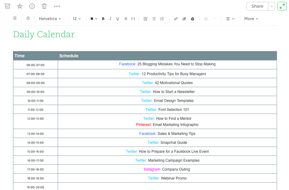 Evernote supports a rich ecosystem of templates. 11 Social Media Calendars Tools Templates To Plan Your Content