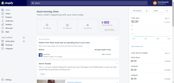 How to complete product catalog on Shopify