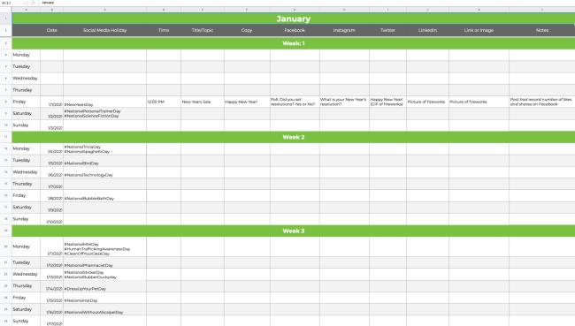 social media calendar tools: Firefly Marketing