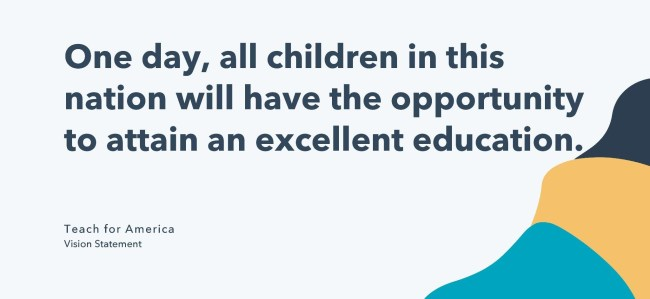 vision statement example: teach for america