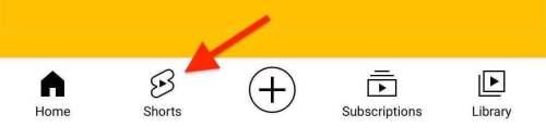 youtube shorts tab on youtube app