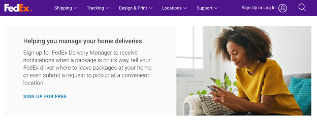 value proposition examples: FedEx