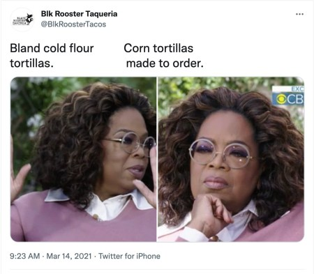 meme marketing example by Black Rooster Taqueria