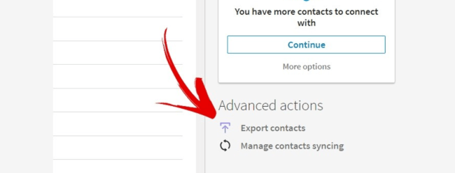 export your linkedin connections