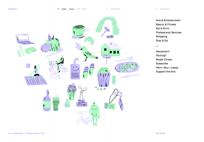 example of the website design trend illustrations