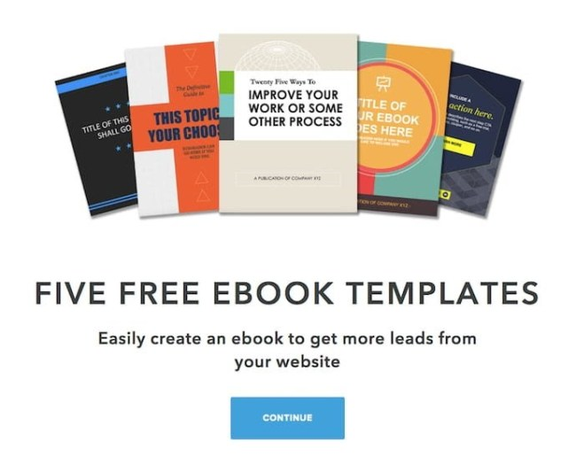 Examples of adding value to a landing page with an ebook