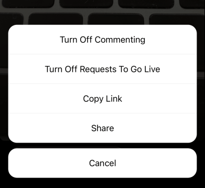 How to turn off commenting on Instagram Live