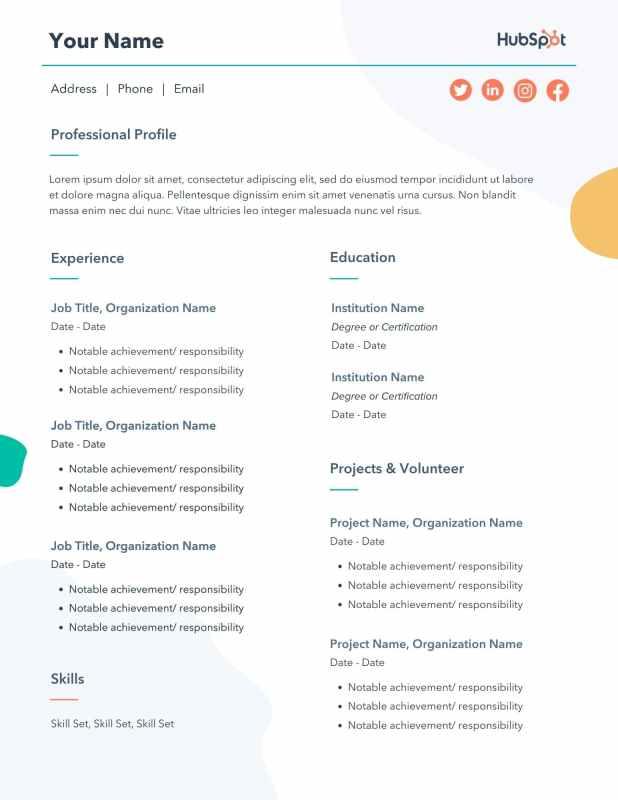 free editable resume pdf template