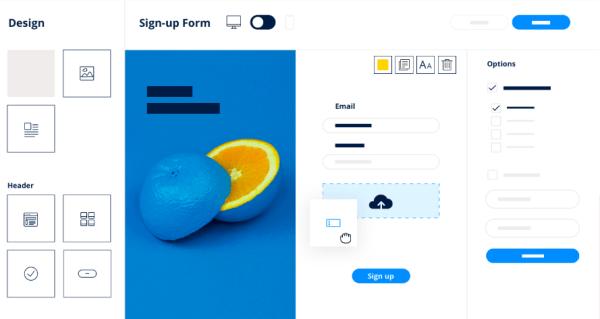 SendInBlue software template example