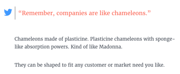 CTA to tweet quote from Typeform's pillar page