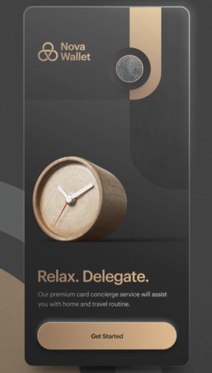 image of nova wallet advertisement on a smartphone