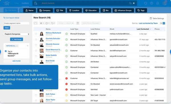 Logiciel de gestion des contacts agile
