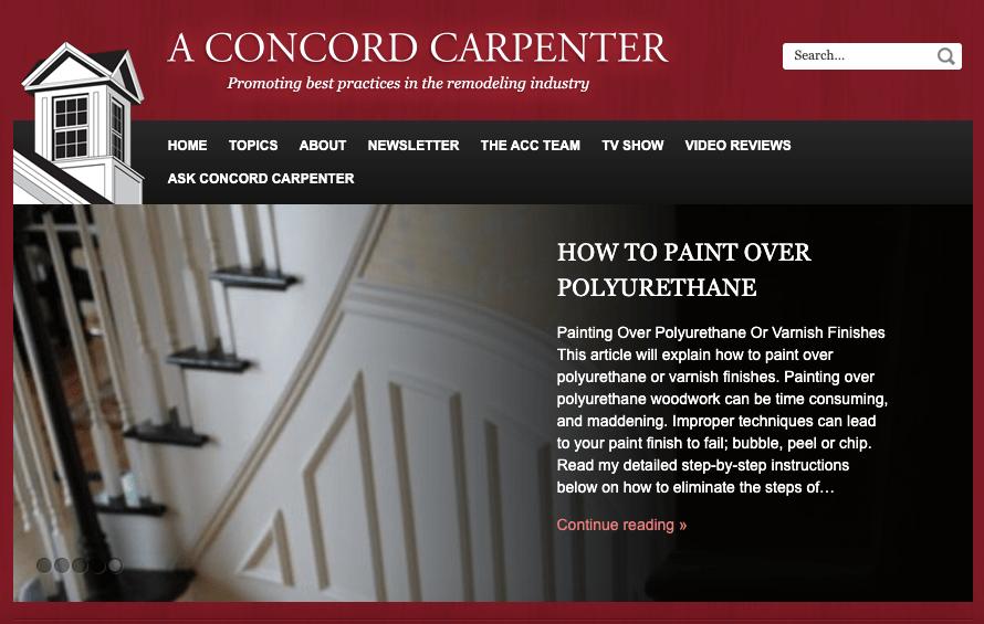 A Concord Carpenter Homepage