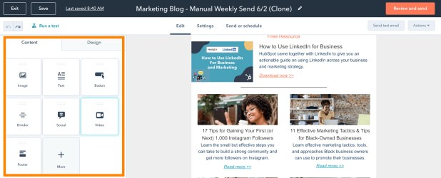 adding a video to a HubSpot email copy
